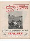 Pubblicità 1966 MOTO MOTOR ITALJET GRIFO advertising publicitè werbung reklame
