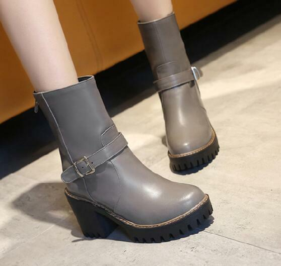 stivali stivaletti stiletto scarpe donna tacco 8 grigio comodi simil pelle 8555