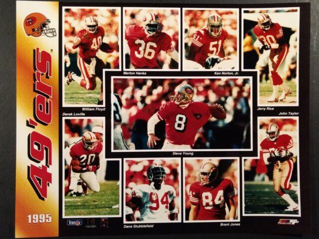 1995 SAN FRANCISCO 49ERS Team Composite 8x10 Photo