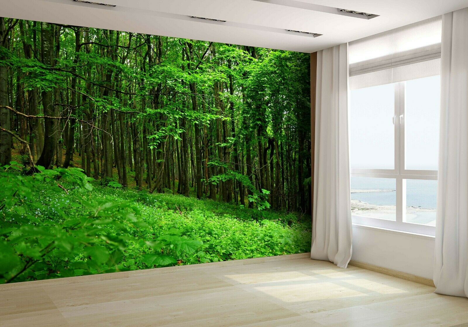 Deep Forest Wallpaper Mural Photo 7212755 budget paper