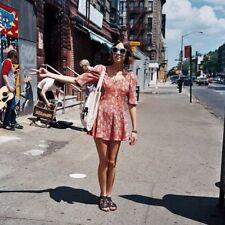 BIBA for Topshop Rare Vintage Look 1960s Coral Print Mini Skater Dress