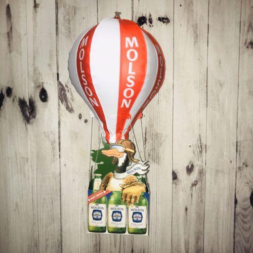 Molson Beer /& Ale Hot Air Balloon 3D Duck Large Hanging Display Bar Man Cave New