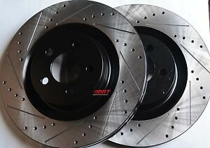 Fits-Challenger-Charger-SRT-8-Drilled-Slotted-Brake-Rotors-Stop-Tech-Front-Pair