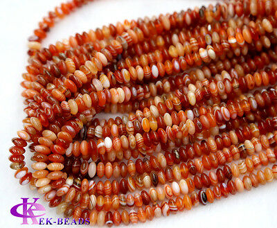 Wholesale Natural sardonyx Red Agate Small Rondelle Loose Stone Jewelry Beads