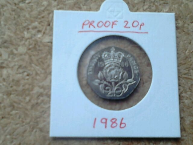 1986 PROOF TWENTY PENCE 20p COIN. This date not issued for  general circulation.