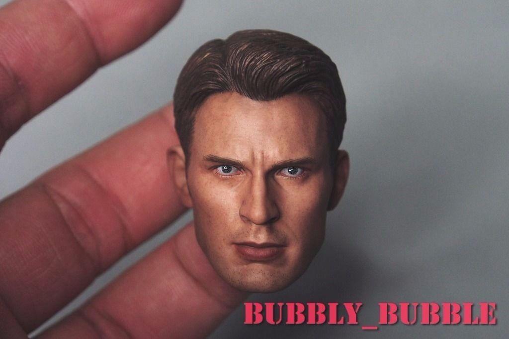 1 6 Chris Evan Captain Captain Captain America 5.0 Head Sculpt For Hot Toys Body  SHIP FROM USA  59e0aa