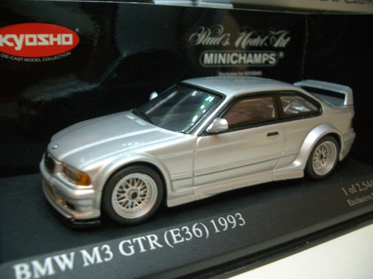 1 43 Kyosho Minichamps BMW M3 GTR E36 (1993) Diecast