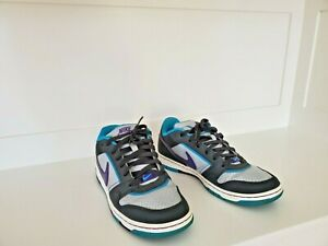 EUC-Nike-Low-Dunks-Lace-up-Sneakers-Gray-Purple-amp-Teal-Leather-Womens-10-42