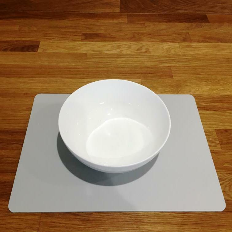 Rectangle Shaped Light Grey Mat Acrylic Placemats Size 11.5x8.5  or 16x12