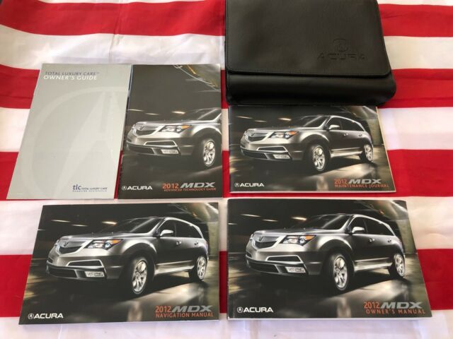 2012 Acura Mdx Owners Manual Book Set  Complete Leather