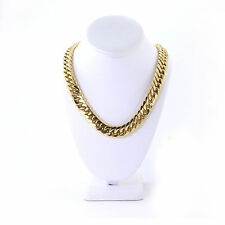 SOLID 14K YELLOW GOLD FINISH THICK HEAVY MIAMI CUBAN TIGHT LINK CHAIN 16MM JayZ