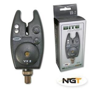 NGT-VX-2-BLACK-Pesca-della-Carpa-Bite-Alarm-Con-Volume-amp-TONE-CONTROL