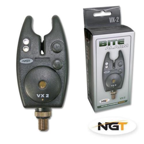 NGT VX-2 BLACK Pesca della Carpa Bite Alarm Con Volume & TONE CONTROL