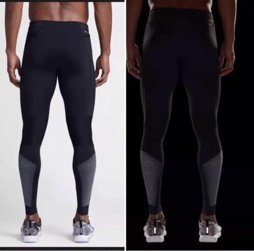 NIKE POWER FLASH TECH MEN´S RUNNING TIGHTS TRAINING GYM BLACK SIZE SMALL