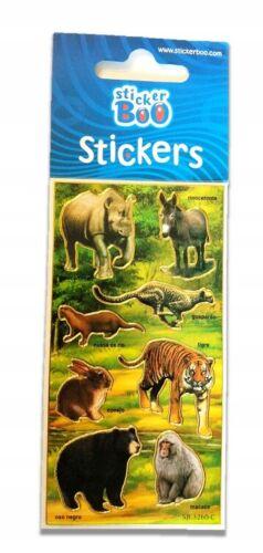 ZOO  Aufkleber Wild  Animals   Sticker Stickerbogen   Tiere   Stickers  1