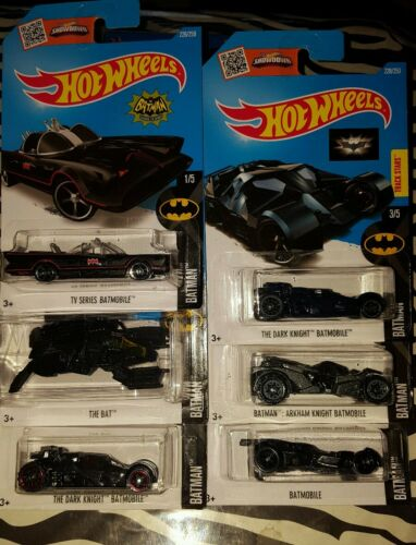 HOT WHEELS 2016 BATMAN SET WITH VARIATION