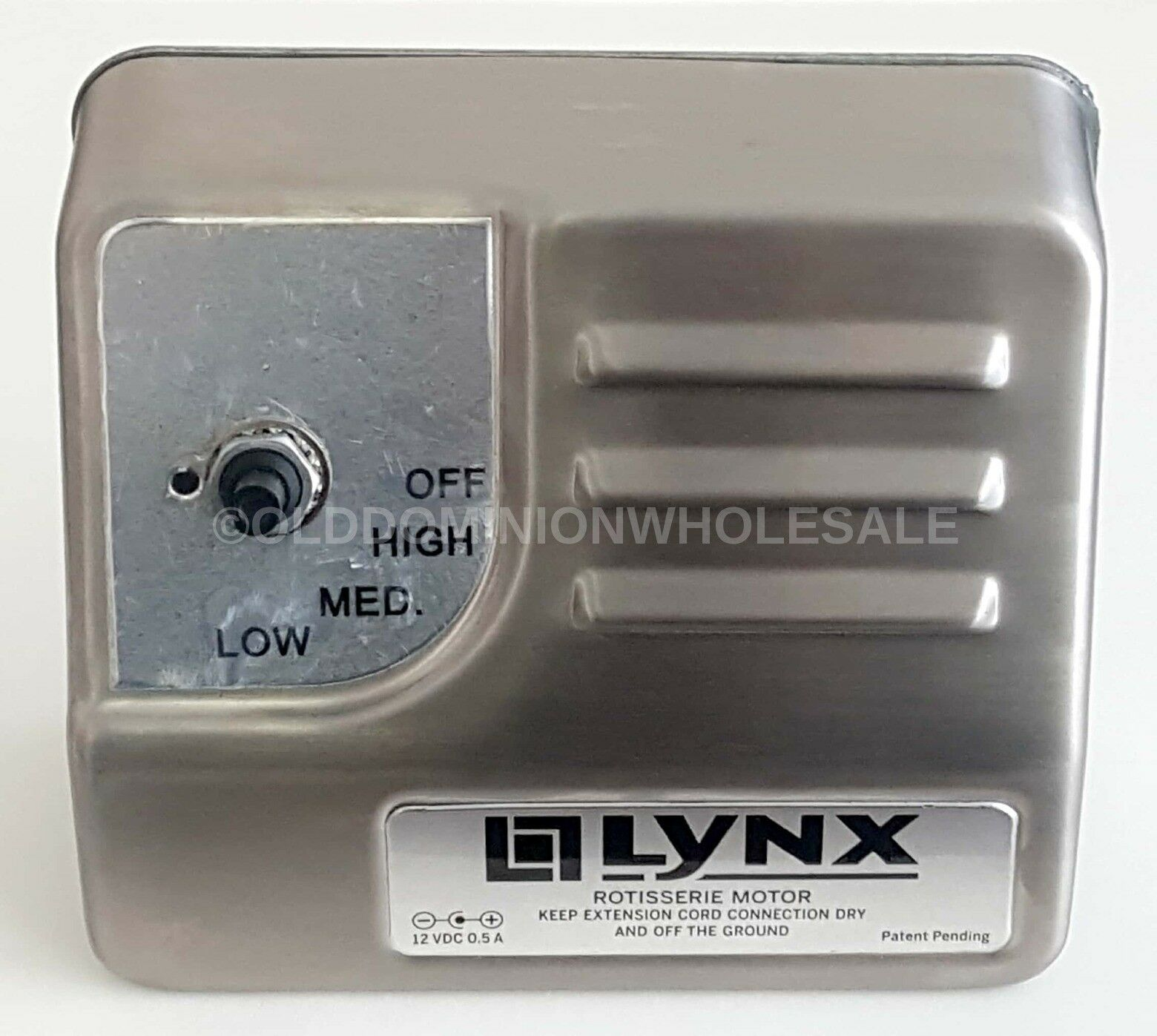 New Lynx 3-Speed redisserie Grill Motor Stainless Steel 12 VDC 0.5A 80277