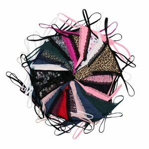 3X-Women-Underpants-Breathable-G-strings-Ladies-Low-Waist-T-back-Thongs-Panties