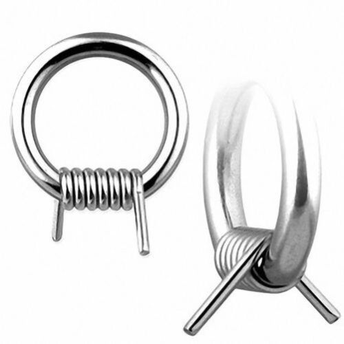 Piercing Ring Captive Thread Barbed Wire