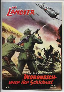 Der-Landser-Nr-18-von-1957-TOP-Z0-1-ORIGINAL-ERSTAUSGABE-Pabel-Romanheft