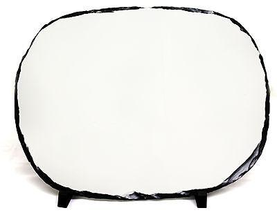 27X37CM OVAL SUBLIMATION ROCK SLATE PRINTABLE WHITE PHOTO HEAT PRESS SH35