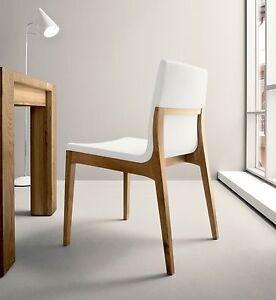 4 sedie soggiorno cucina sd lula legno ecopelle pvc design for Sedie legno moderne