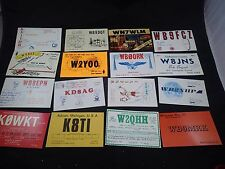 Lot of 16 Different Vintage Ham amateur radio Call Cards QSL QSO Postcards #23