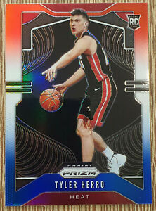 2019-20-Prizm-Tyler-Herro-Prizm-Rookie-Red-White-and-Blue-RC-259-Miami-Heat