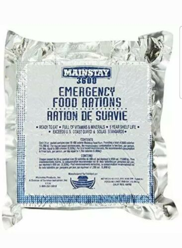 Mainstay 3600 Calorie Bar Emergency Food Supply
