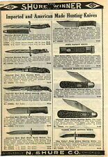 1924 PAPER AD Flylock Press Button Hunting Knife Knives Victor Neft Safety