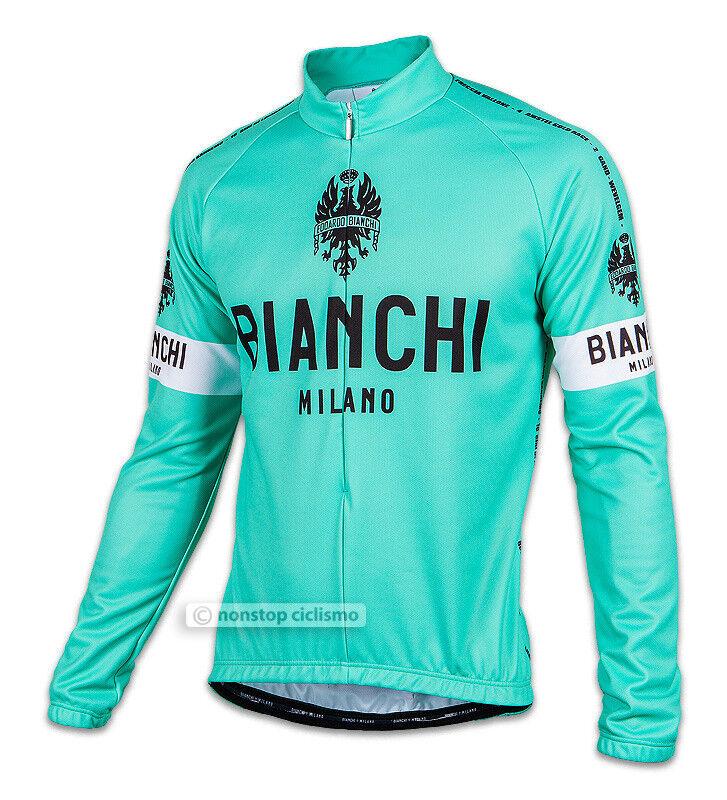 Bianchi Maniche Milano Leggenda Leggero Maglia Ciclismo Maniche Bianchi Lunghe Classico Celeste 4d9fa7