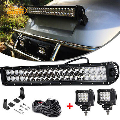 22 Led Light Bar 2x 4 Pods Wir For Golf Cart Diy Ezgo Club Car Polaris Utv Atv Ebay