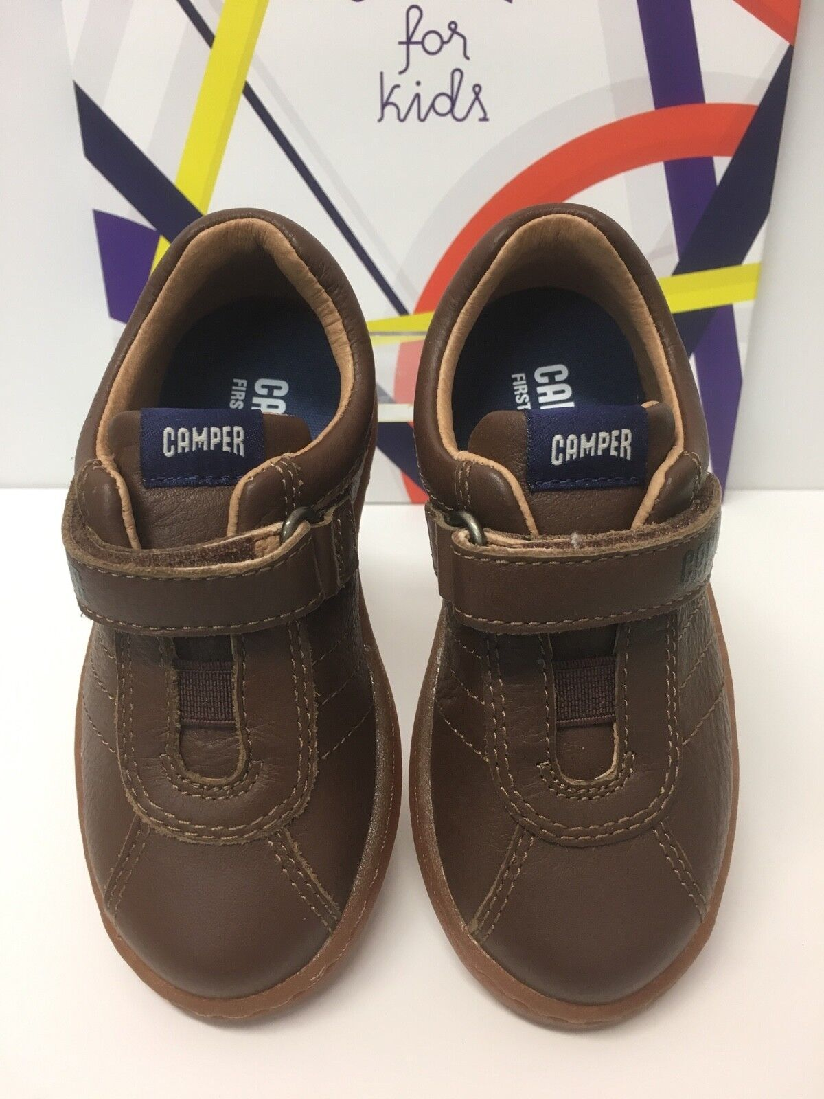 Camper UNO Infant Boys Casual Leather Shoes in Light Brown K800197-002