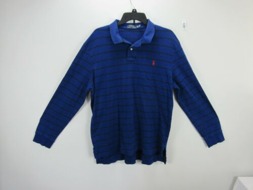 Polo Ralph Lauren blue popover men's XXL Long slee