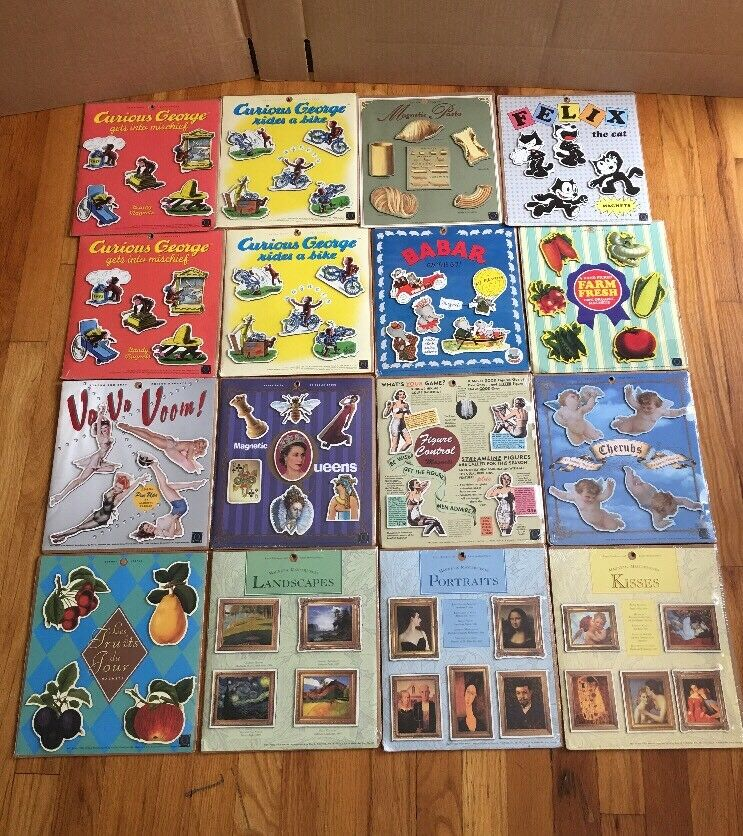 New Sealed  Magnets Sets  by bluee Q, Years 1995 -96 Ect Lot Of 16 New Sets Nice