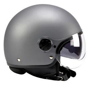 BNO-Jet-8-Helm-Motorradhelm-Rollerhelm-mit-langem-Visier-dunkl-Visier-ECE