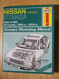 nissan stanza 1982 1983 haynes service repair manual 824 ebay rh ebay ie Auto Repair Manuals Online Online Repair Manuals