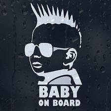 Baby On Board Funny Little Dude Punk Car Window Or Bumper Decal Vinyl Sticker