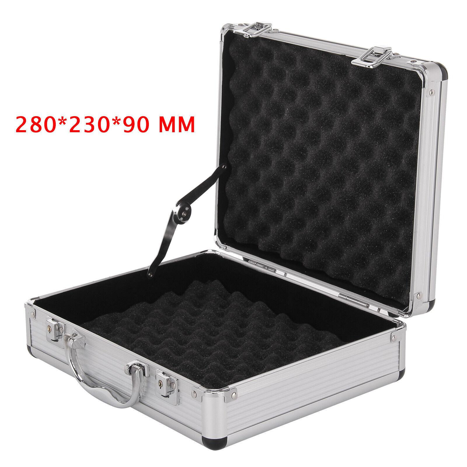 Aluminium Pistol Gun Case Storage Lockable Flight Case Foam Tool Box Secured UK