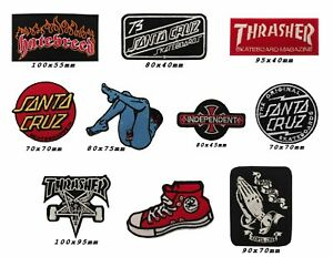 thrasher-Santa-Cruz-Independent-Skateboard-trucks-Embroidered-Iron-Sew-On-Patch