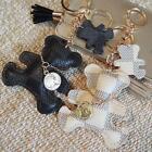 Creative leather POP Bear Love Charm Style Purse Handbag Key Chain Ring gifts TR