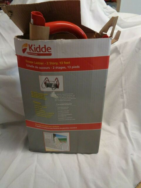 13-Foot Kidde 468093 KL-2S Two-Story Fire Escape Ladder with Anti-Slip Rungs