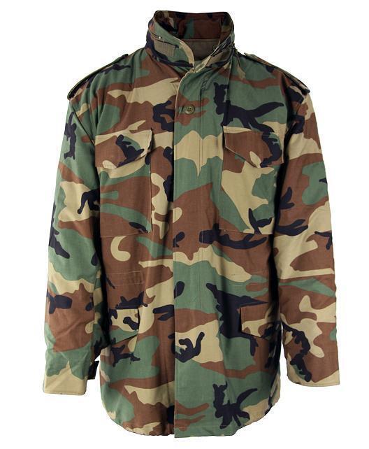 M65 Field Jacket Woodland Camo With Liner Sizes XS,S,M,L,XL,2X,3X,4X,5X,6X,7X