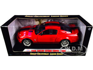 2008 FORD SHELBY MUSTANG GT500 SUPER SNAKE RED 1/18 BY SHELBY COLLECTIBLES SC313