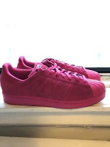 vente chaude en ligne 67ad8 9a958 Details about ADIDAS SUPERSTAR RT ROSE ALL PINK mens SUEDE SHELLTOES SHOES