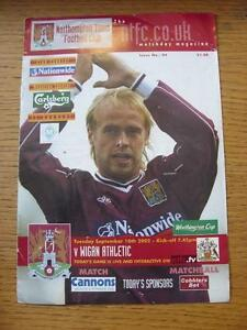 10092002 Northampton Town v Wigan Athletic Football League Cup Creased Fol - Birmingham, United Kingdom - Returns accepted within 30 days after the item is delivered, if goods not as described. Buyer assumes responibilty for return proof of postage and costs. Most purchases from business sellers are protected by the Consumer Contr - Birmingham, United Kingdom