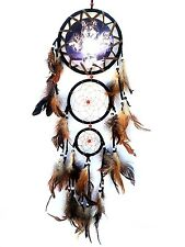 Handmade Dream Catcher with feathers wall hanging decoration ornament-Wolf