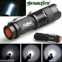 Mini Zoomable CREE Q5 LED Flashlight Torch 7W 1200LM Adjustable Focus Light Lamp