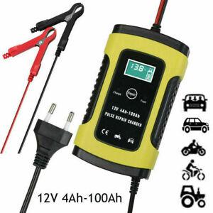 12V-5A-Caricabatterie-Batteria-Auto-Mantenitore-con-LCD-Display-per-Auto-Moto