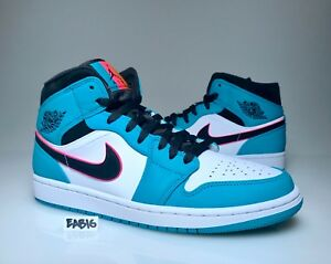 014020ffb7f7f Nike Air Jordan 1 Mid SE Riverwalk South Beach Turbo Green Black ...